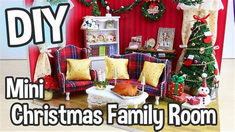 diy miniature dollhouse kit christmas livingfamily room