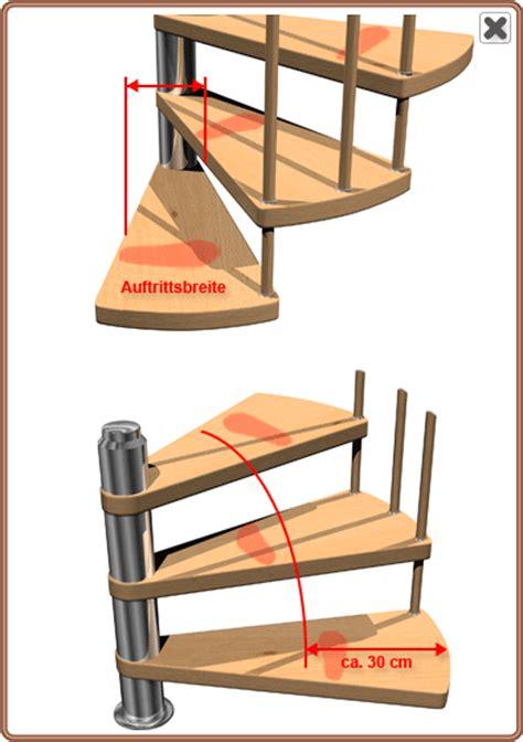 treppenberechnung einer links gewendelten spindeltreppe