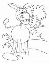 Donkey Coloring Pages Printable Cartoon Donkeys Colouring Ass Template Cute Lovely Animal Mule Caterpillar Sheet Sheets Bestcoloringpages Balaam Funny Frog sketch template