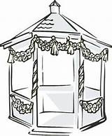 Gazebo Clipart Clip Pavilion Cliparts Library Yahoo Clipground 400px 79kb sketch template