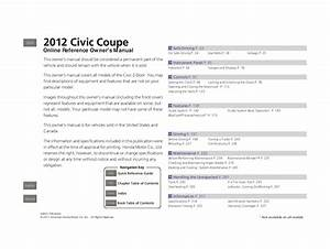 2012 Honda Civic Coupe Owners Manual