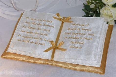 gold book shaped personalised wedding ring cushion ebay