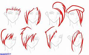 94+ How To Draw Anime Hair Step By Step - Tutorial ...
