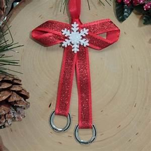 Loriece Red Ribbon Horseshoe Ornament