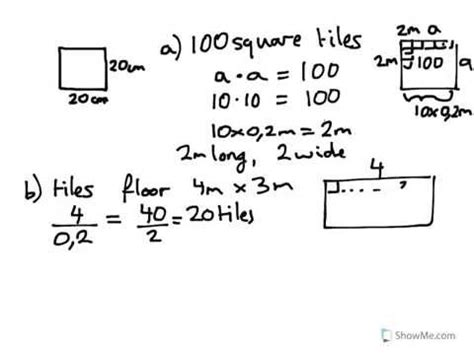 how to calculate flooring year 8 9 calculate cost of tiles to cover a floor 4mx3m each tile is 20cm squared youtube