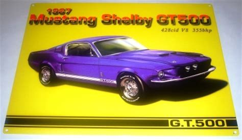 mustang shelby gt  metal sign  car gift classic