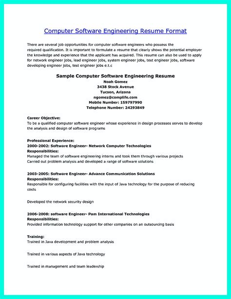 Computer Engineering Resume Sles by The Computer Engineering Resume Sle To Get Soon
