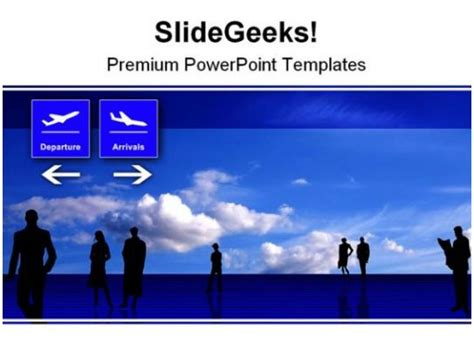 stylized airport travel powerpoint background  template