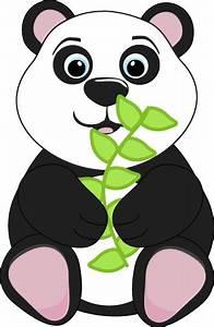 Panda Bear Eating Leaves Clip Art - Panda Bear Eating ...
