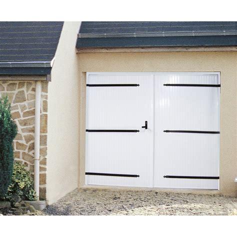 porte de garage 2 vantaux artens h 200 x l 240 cm leroy merlin