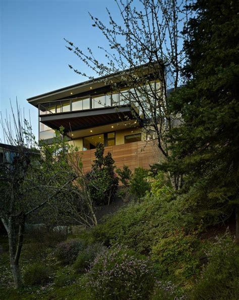 home office interiors modern hillside renovation stuns with refined interior design