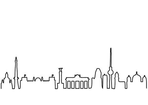 urban berlin skyline post card  unique product