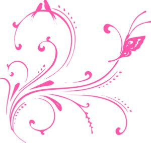 pink swirl birds butterfly princess clip at clker vector clip royalty