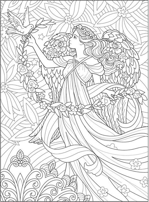 creative haven beautiful angels coloring book bright colors angel coloring pages fairy