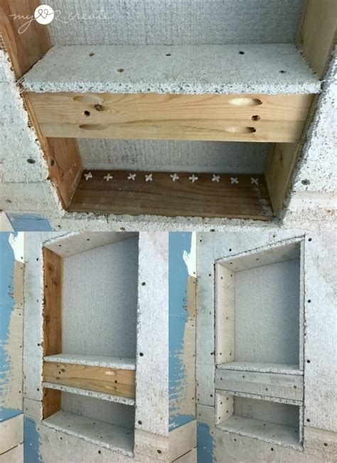 building a shower niche how to build a shower niche one room challenge week 4