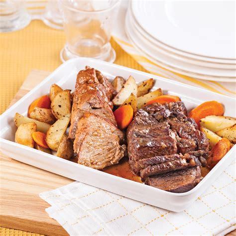 cuisine porc rôtis de porc et de boeuf recettes cuisine et
