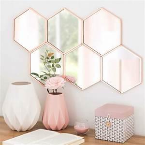 Miroir Cuivre Rose : la place du miroir mural dans l 39 int rieur contemporain ~ Melissatoandfro.com Idées de Décoration