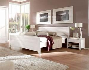 Komplettes Schlafzimmer Kaufen : scala massivholzbett doppelbett kiefer weiss 160 x 200 cm ~ Watch28wear.com Haus und Dekorationen