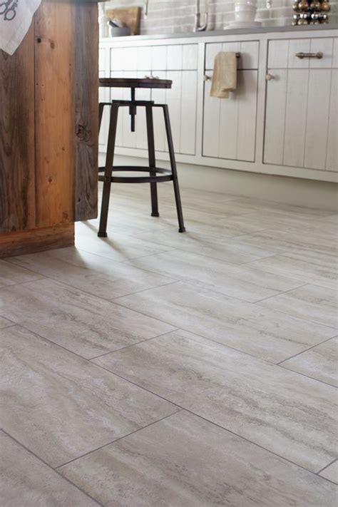 stainmaster groutable vinyl tile stainmaster 174 12 in x 24 in groutable oyster travertine