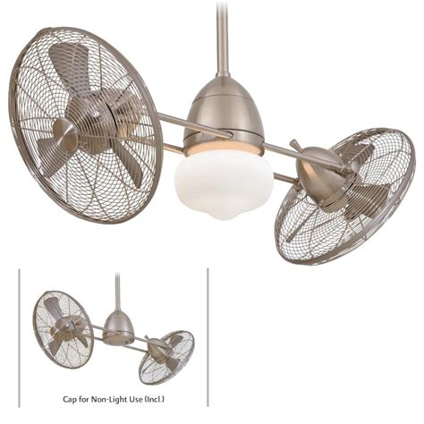 Gyro Ceiling Fans With Lights by Minka Aire F402 Bnw Gyro Nickel Outdoor 42 Quot Ceiling