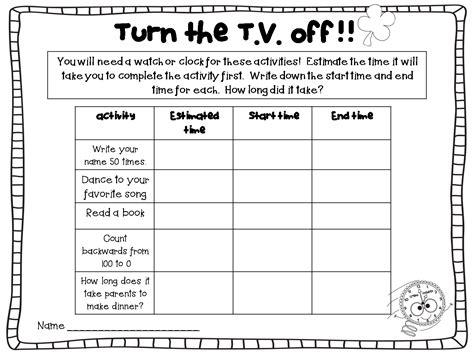 printable kindergarten homework kidz activities
