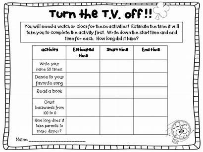 Homework Kindergarten Printable Sheets Break Spring Packet