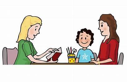 Teacher Parent Meetings Parents Working Problems Tricky