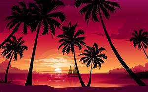 Palm Tree Beach Sunset | sunset hd wallpapers palm trees ...
