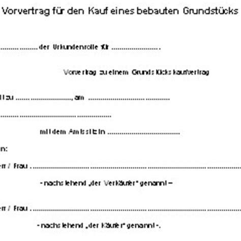 hauskauf vorvertrag deutsche anwaltshotline
