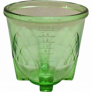 Vintage Transparent Green Depression glass 2 Cup Mixer ...
