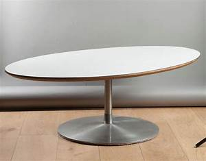 Pied Table Central : table basse ovale pied central ~ Edinachiropracticcenter.com Idées de Décoration