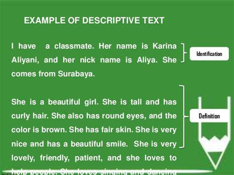 kumpulan contoh descriptive text pendek terbaik bahasa