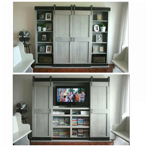 entertainment cabinet with doors ana white sliding door cabinet for tv diy projects