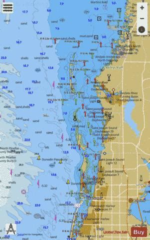 tampa bay port richey clearwater hbr port richey marine chart usp nautical