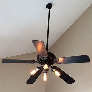 Quick ceiling fan makeover simply remove the shades and