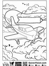 Quiver Coloring Vliegtuig Kleurplaat Plane Flugzeug Malvorlage Persoonlijke Maak Stemmen Stimmen sketch template