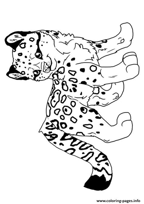 leopard hunter  coloring pages printable