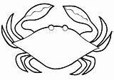 Crab Coloring Pages Colouring Printable Template Pot sketch template
