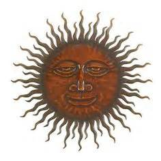 copper patina sun face extra large sunburst metal wall art With kitchen cabinets lowes with celestial sun wall art