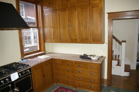 quarter sawn kitchen cabinets quarter sawn oak kitchen traditional kitchen st