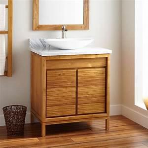30, u0026quot, , becker, teak, vessel, sink, vanity, -, natural, teak