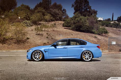 2015 Bmw M3 Yas Marina Blue By Morr Wheels Picture
