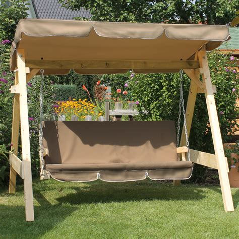 wooden garden patio porch swing bench solid furniture