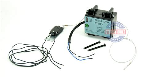 Trailer Breakaway Kit Battery Box With Charger Led Readout