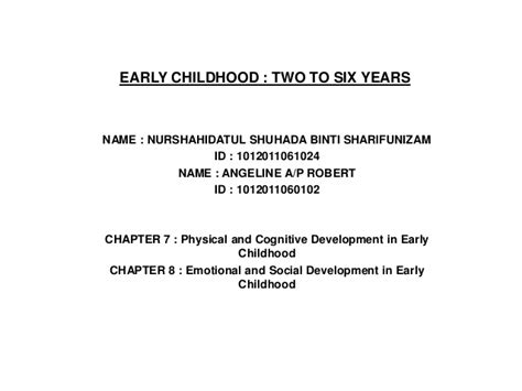 development psychology physical and cognitive development 814 | development psychology physical and cognitive development in early childhood 1 638