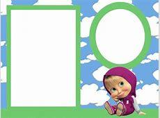 Imágenes, marcos, invitaciones, etiquetas de Masha y el