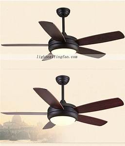 Inch modern ceiling fan with led light kit and remote
