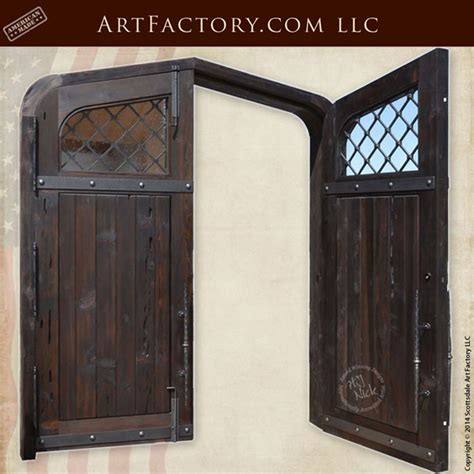cathedral style entry doors solid wood  custom iron