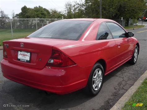 2002 Rally Red Honda Civic Lx Coupe #19362592 Photo #3