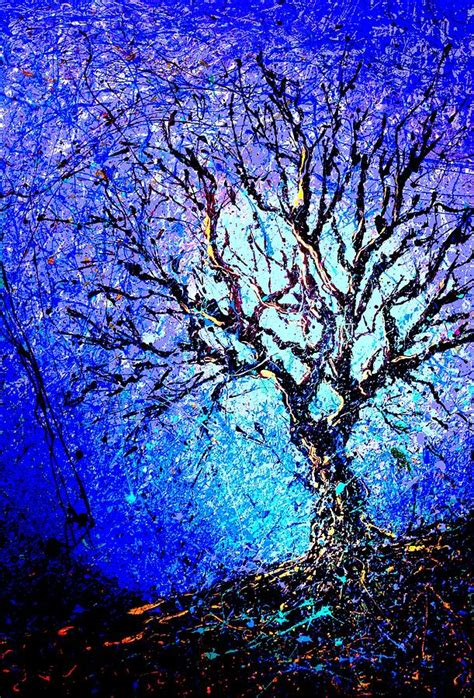 picture collage ideas for large wall a tree outside my studio painting by artist singh